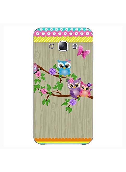 People's Cover Samsung E7 Kabartmalı Telefon Kılıfı Renkli
